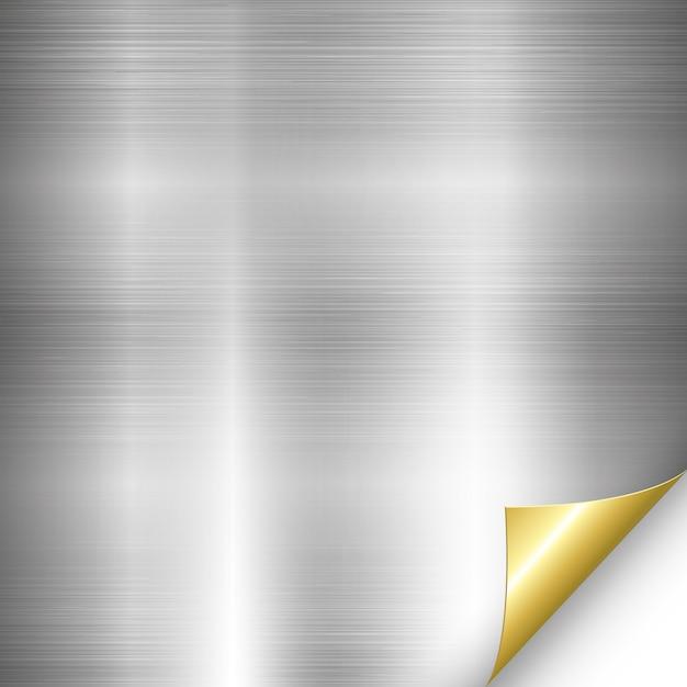 Silver metal gold corner Premium Vector