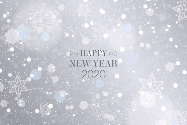 Silver New Year 2020 Wallpaper Vector Free Download