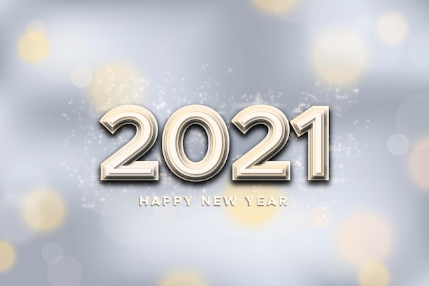 Серебряный новогодний фон 2021 Бесплатные векторы