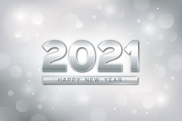 Серебряный новый год 2021 Бесплатные векторы