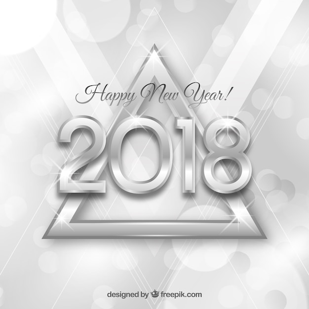 silver new year background free vector