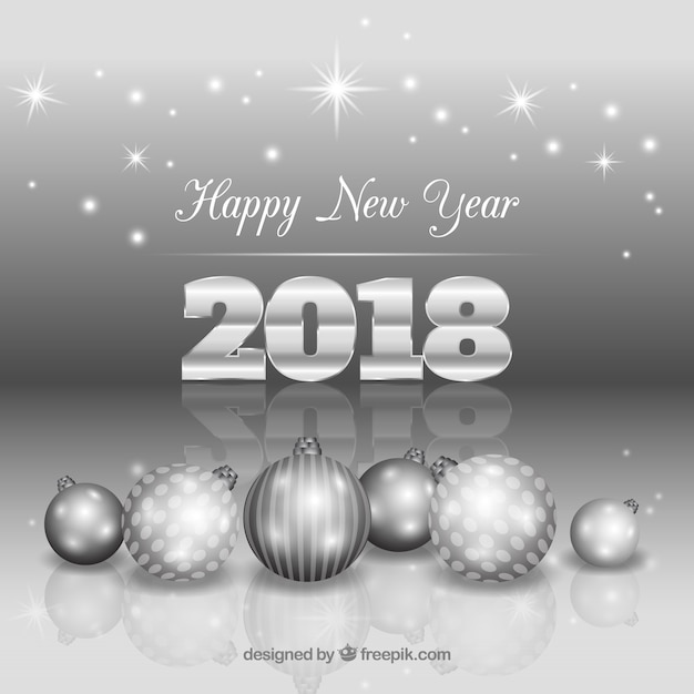 silver new year background freepik