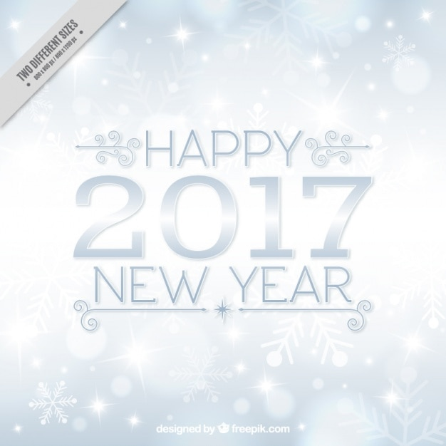 silver new year snowflakes background free vector