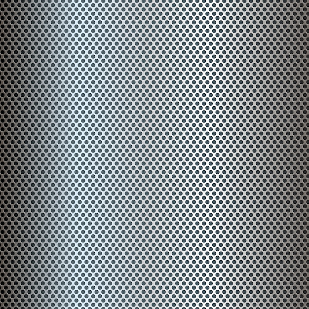 Silver perforated metal texture\ background