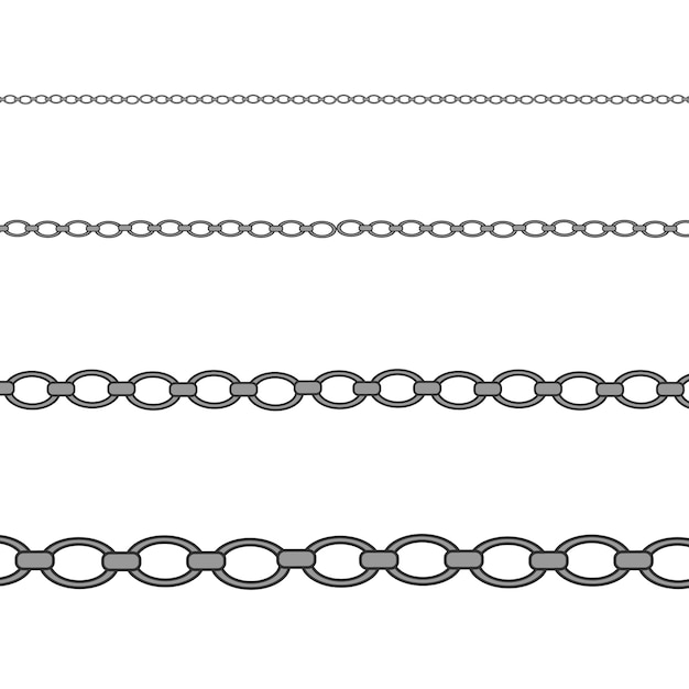 Silver, platinum necklace. luxury shiny jewelry chain. Premium Vector
