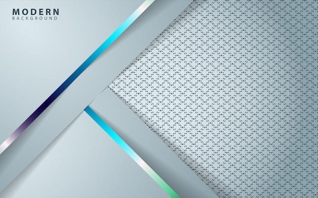 Silver shape background Premium Vector