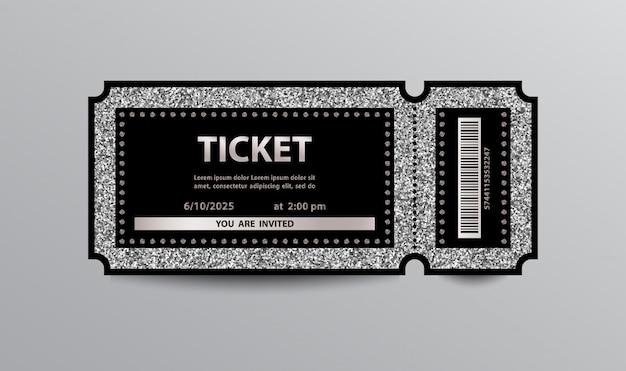 Silver ticket Premium Vector