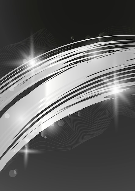 Silver wave abstract background illustration Free Vector