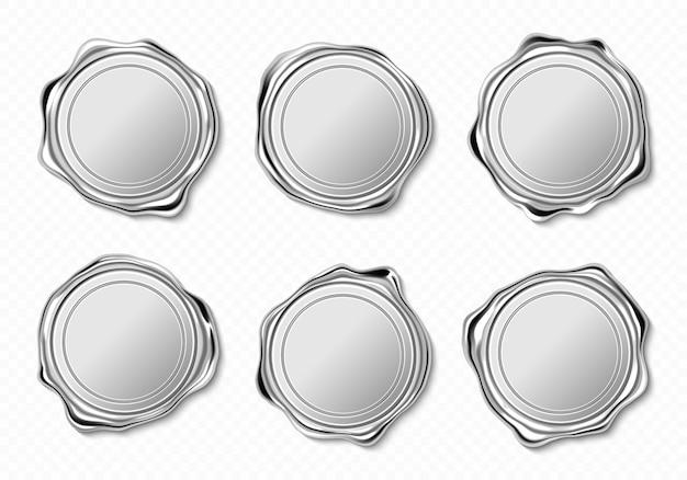 Sigilli di cera d'argento Vettore gratuito