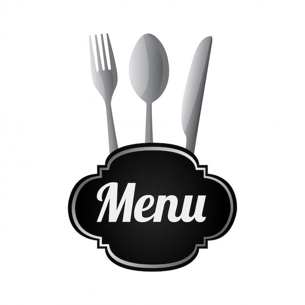 Silverware menu Free Vector