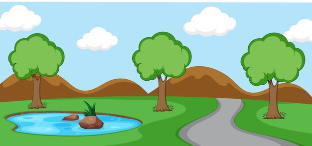 A simeple nature scene Free Vector