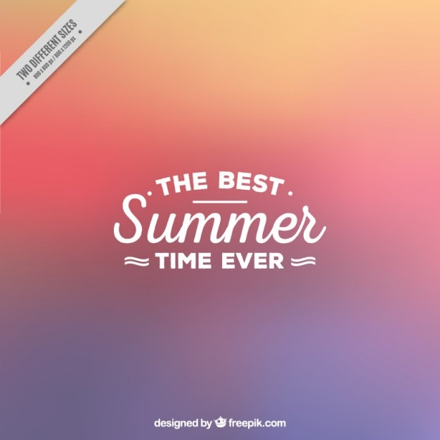 Simple abstract background of summer Free Vector