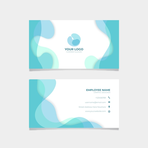Simple abstract business card template Free Vector