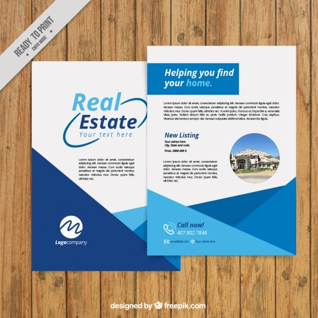Simple and abstract real estate flyer Free Vector