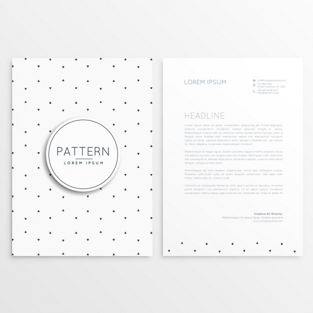 Simple And Cute Letterhead Template Vector Free Download