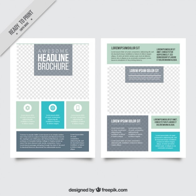 simple and modern flyer vector free download