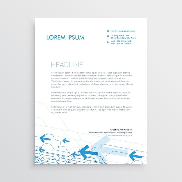 simple arrow letterhead template design vector free download