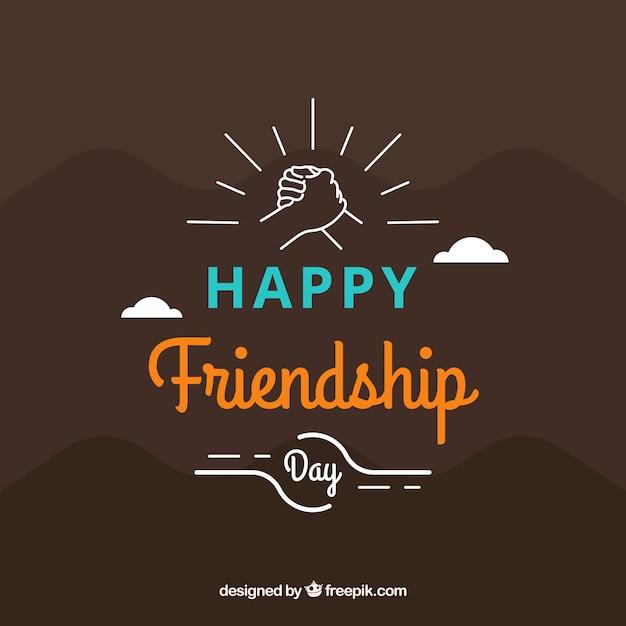 Простой фон счастливой дружбы Бесплатные векторы