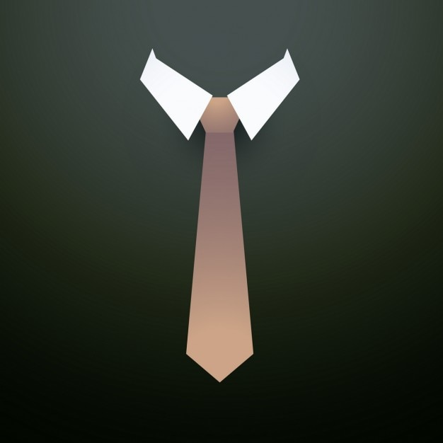 Simple background with tie Free Vector