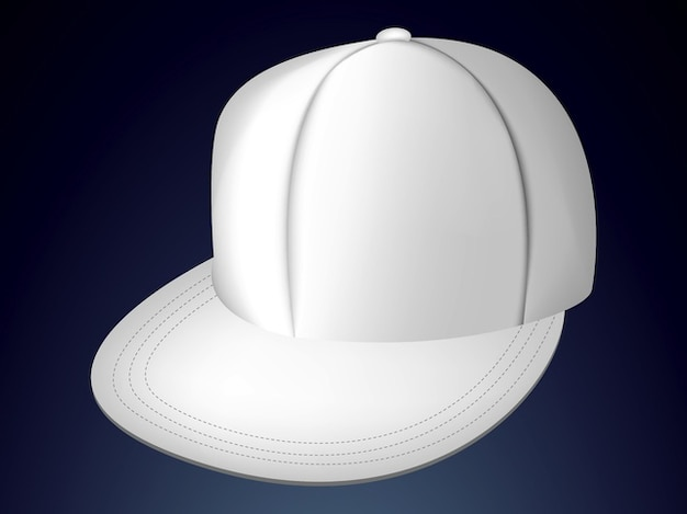 simple baseball cap white template vector free download