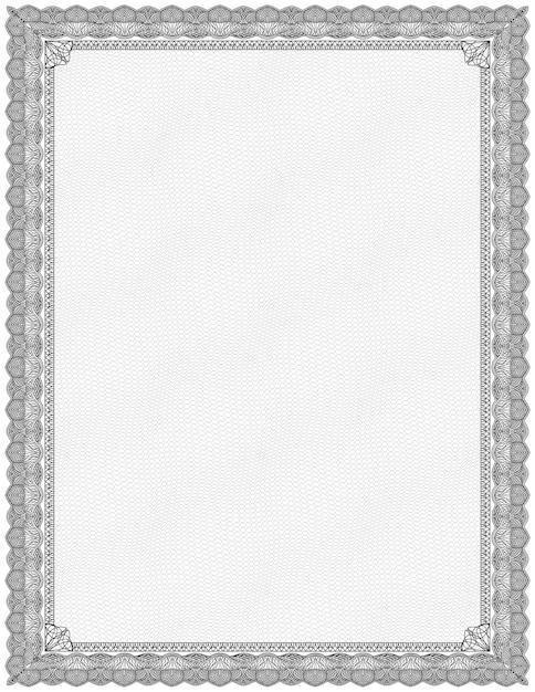 Simple black and white certificate frame border Vector | Premium ...