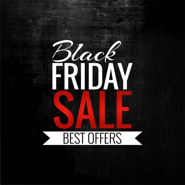Simple black background for black friday Free Vector