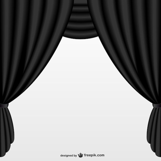 Simple black curtain Vector | Free Download