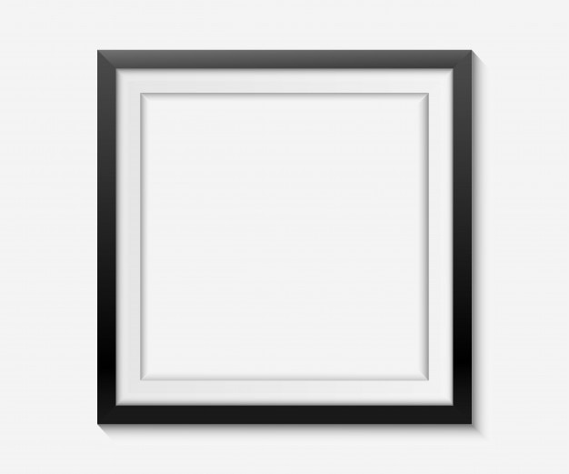 simple black frame on white background vector premium download