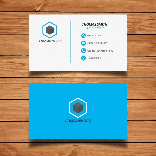 Simple blue and white business card vector free download simple blue and white business card free vector flashek Choice Image