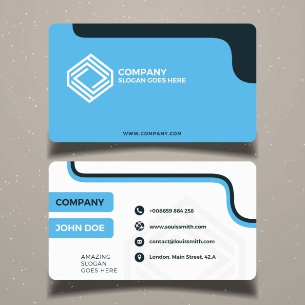 Download vector simple business card design vectorpicker simple blue business card template wajeb Choice Image
