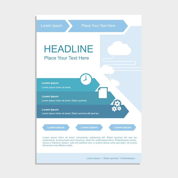 Simple Blue Cloud Proposal Template Vector Premium Download