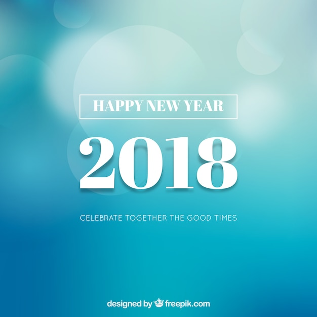simple blue new year background free vector