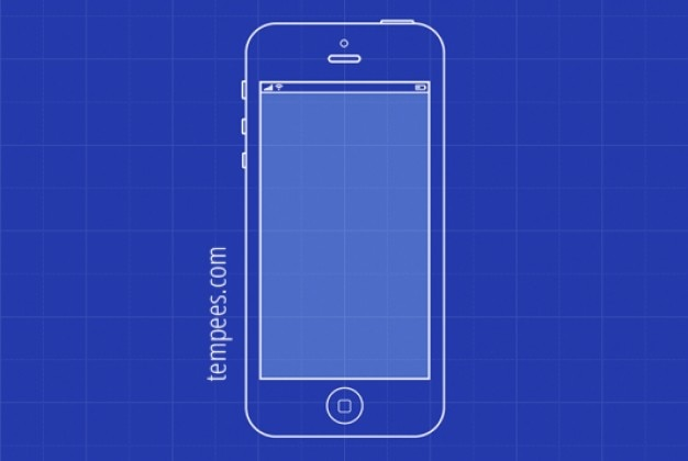 Simple blueprint illustration of iphone 5 vector free download simple blueprint illustration of iphone 5 free vector malvernweather