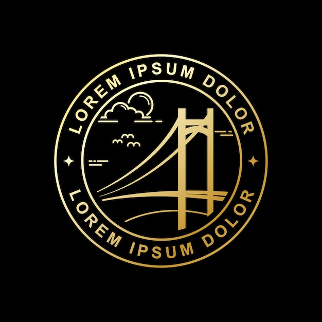Simple bridge vector design Premium Vector