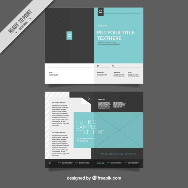 Simple Brochure Template Vector Free Download - Simple brochure templates