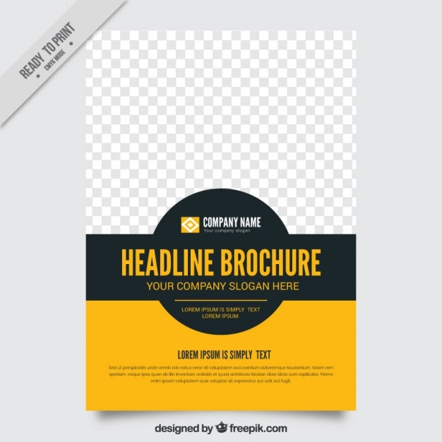 simple brochure template free vector