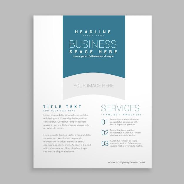 simple brochure free vector