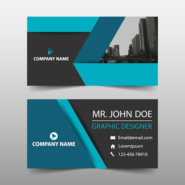 Simple business card blue color vector free download simple business card blue color free vector reheart Image collections