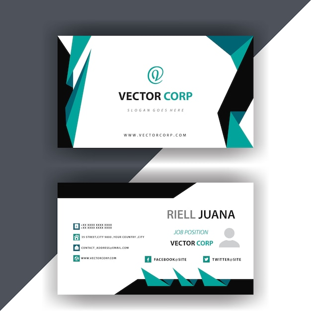 simple business card design free vector - Simple Business Card Design