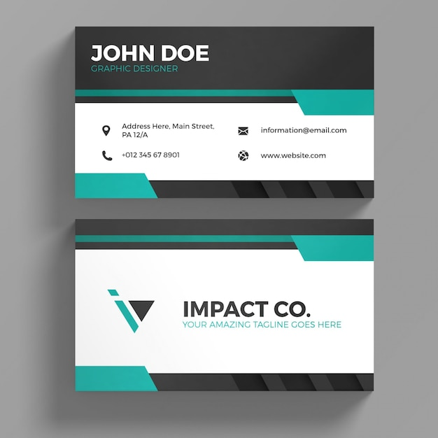 Simple business card tempalte vector premium download simple business card tempalte premium vector reheart Images