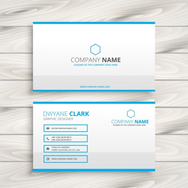 simple business card template vector free download