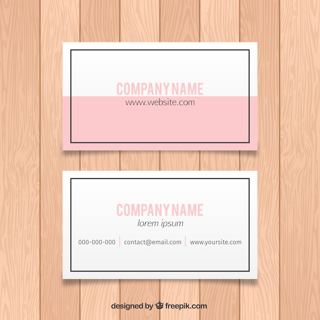 Simple business card with a thin border Vector | Free Download