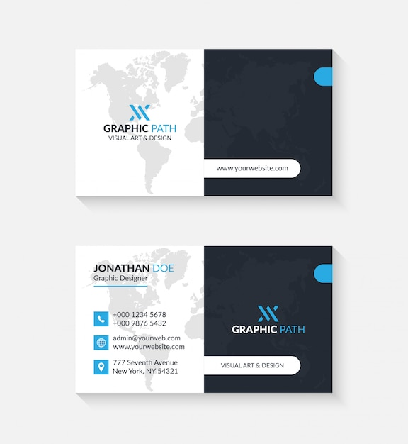 Simple business card with logo or icon for your business Premium Vector