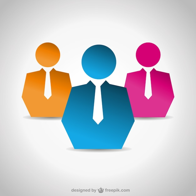 Simple business people icons Vector | Free Download