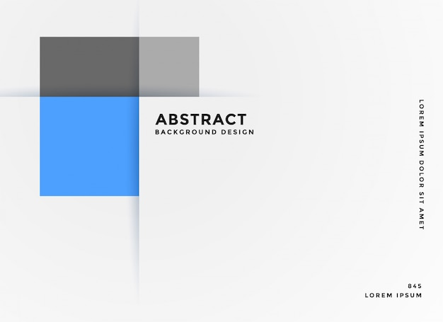 Simple business style geometric blue banner Free Vector