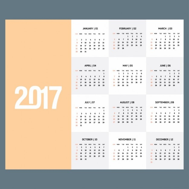 Simple calendar year 2007 Vector | Free Download