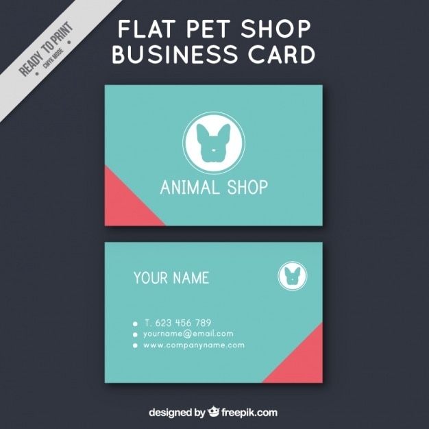 Simple card of pet shop vector free download simple card of pet shop free vector reheart Images