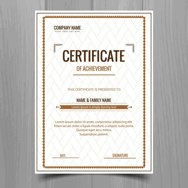 Simple Certificate Template Vector Free Download