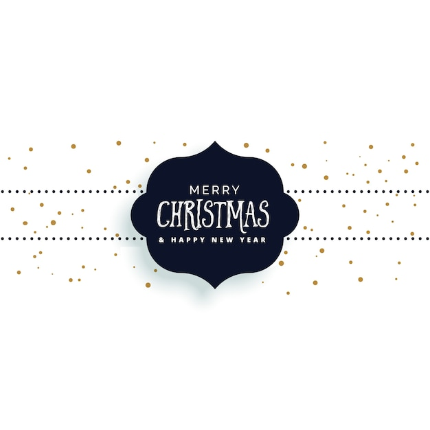 simple christmas background with frame and lettering vector free