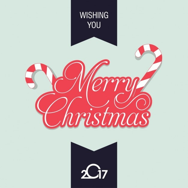 simple christmas card with red letters vector free download